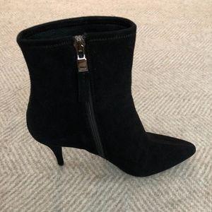 7afdef8002ac Prada Shoes - NWOT Prada Leather Suede Ankle Boots Black 5.5